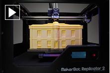 MakerBot 3-D Printing Time-lapse Paris Building